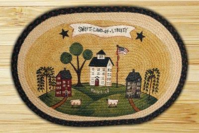 Sweet Land of Liberty Braided Jute Rug