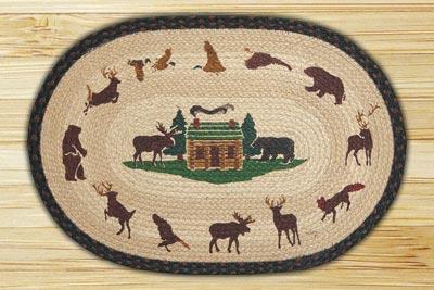 Cabin Lodge Braided Jute Rug