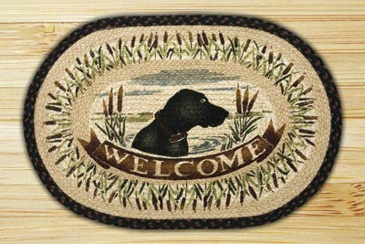 Welcome Dog Braided Jute Rug