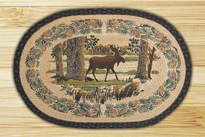 Moose Forest Braided Jute Rug