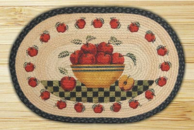 Apple Bowl Braided Jute Rug