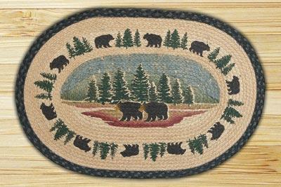 Wilderness Bear Braided Jute Rug
