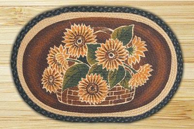 Large Sunflower Braided Jute Rug
