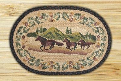 Mountain Horse Braided Jute Rug