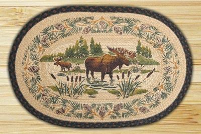 Moose Wading Braided Jute Rug
