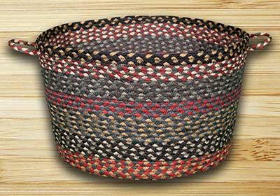 Burgundy, Blue, & Gray Utility Basket - Large
