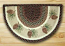 Pinecone Half Moon Braided Jute Rug -  Small
