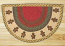 Gingerbread Men Half Moon Braided Jute Rug -  Small