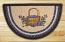Blueberry Basket Half Moon Braided Jute Rug