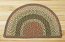 Olive, Burgundy, and Gray Half Moon Braided Jute Rug - Small