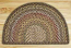 Fir and Ivory Half Moon Braided Jute Rug - Small