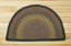 Brown, Black, and Charcoal Half Moon Braided Jute Rug - Small