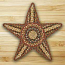 Honey, Vanilla, and Ginger Braided Star Trivet