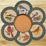 Song Birds Braided Trivet Set