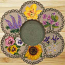 Flowers Braided Trivet Set
