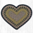 Brown, Black, and Charcoal Cotton Braid Placemat - Heart