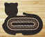 Mocha and Frappuccino Cat Shaped Rug