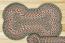 Green and Burgundy Braided Dog Bone Rug - Large