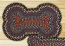 Burgundy, Blue, and Gray Braided Dog Bone Rug - Large