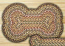 Fir and Ivory Braided Dog Bone Rug - Large