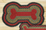 Burgundy, Olive, and Charcoal Braided Dog Bone Rug - Large