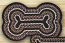Mocha and Frappuccino Braided Dog Bone Rug - Large