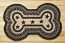 Mocha and Frappuccino with Stars Braided Dog Bone Rug - Large