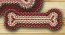 Burgundy Braided Dog Bone Rug - Small