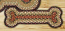Burgundy and Mustard Braided Dog Bone Rug - Small