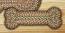 Fir and Ivory Braided Dog Bone Rug - Small