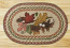 Autumn Leaves Oval Patch Braided Rug