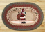Santa Oval Patch Braided Rug