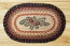 Pinecone Red Berry Oval Patch Braided Rug