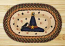 Witch Hat Oval Patch Braided Rug