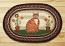 Folk Art Cat Oval Patch Braided Rug