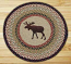 Moose Round Braided Rug