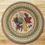Autumn Leaves Round Braided Rug