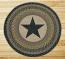 Black Star Round Braided Rug