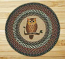 Owl Round Braided Rug
