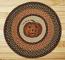 Jack-O-Lantern Round Braided Rug