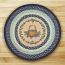 Blueberry Basket Round Braided Rug
