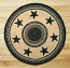 Black Stars Round Braided Rug