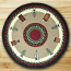 Winter Village Round Braided Rug