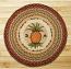 Pineapple Round Braided Rug