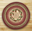 Cranberries Round Braided Rug