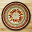 Autumn Wreath Round Braided Rug