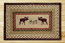 Moose and Pinecone Rectangle Braided Jute Rug