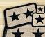 Black Star Wicker Weave Coaster