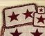 Burgundy Star Wicker Weave Coaster