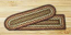 Burgundy and Ivory Braided Jute Stair Tread - Rectangle